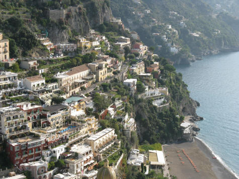 Beach in Positano Italy